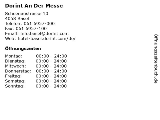 Dorint An Der Messe in Basel: Adresse und Öffnungszeiten