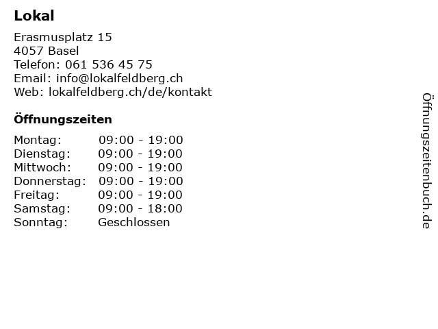 Lokal in Basel: Adresse und Öffnungszeiten