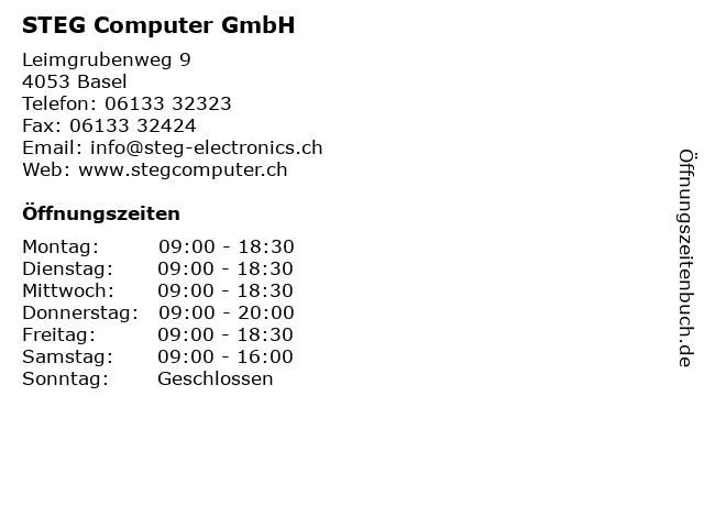 STEG Computer GmbH in Basel: Adresse und Öffnungszeiten