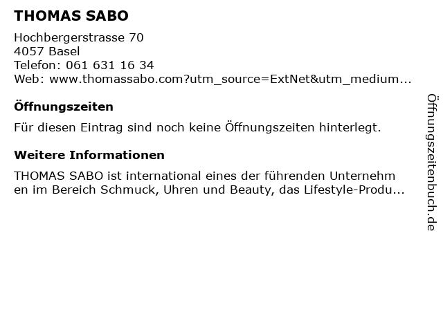 Thomas Sabo in Basel: Adresse und Öffnungszeiten