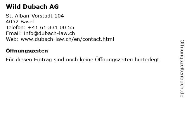 Wild Dubach AG in Basel: Adresse und Öffnungszeiten