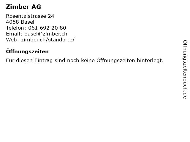 Zimber AG in Basel: Adresse und Öffnungszeiten