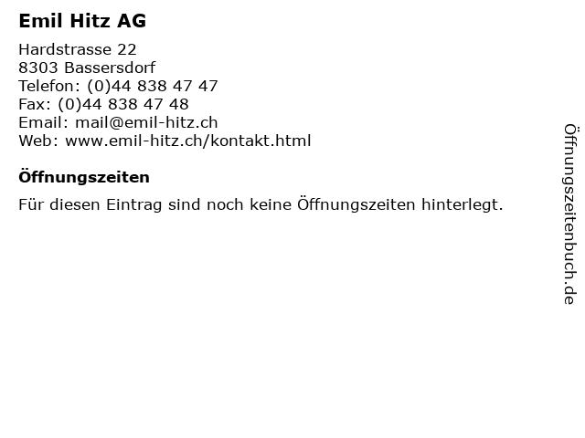 Emil Hitz AG in Bassersdorf: Adresse und Öffnungszeiten