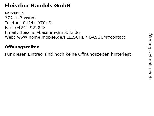 Fleischer Handels GmbH in Bassum: Adresse und Öffnungszeiten