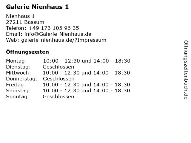 Galerie Nienhaus 1 in Bassum: Adresse und Öffnungszeiten
