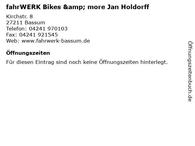 fahrWERK Bikes & more Jan Holdorff in Bassum: Adresse und Öffnungszeiten