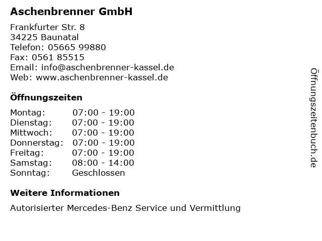 Aschenbrenner GmbH in Baunatal: Adresse und Öffnungszeiten