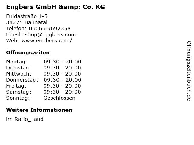 Engbers GmbH & Co. KG in Baunatal: Adresse und Öffnungszeiten