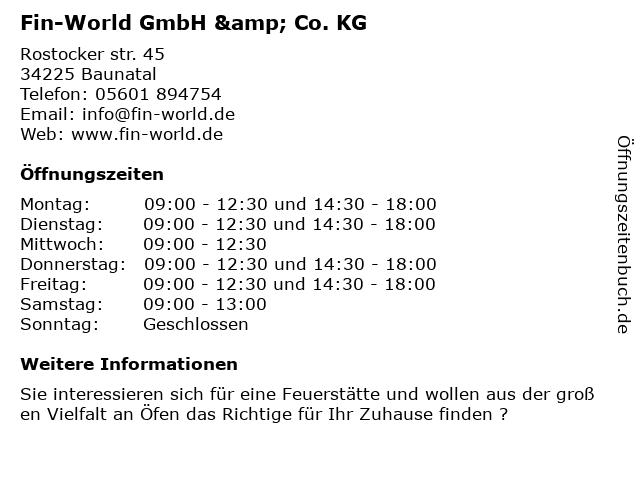 Fin-World GmbH & Co. KG in Baunatal: Adresse und Öffnungszeiten