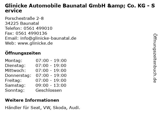 Glinicke Automobile Baunatal GmbH & Co. KG - Service in Baunatal: Adresse und Öffnungszeiten
