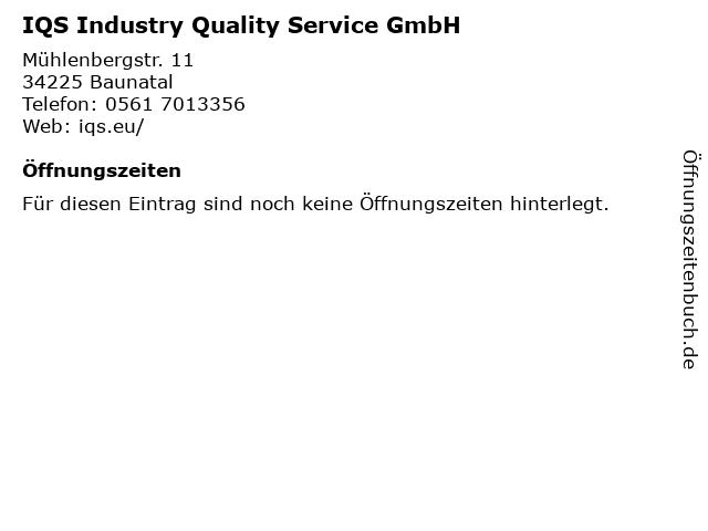 IQS Industry Quality Service GmbH in Baunatal: Adresse und Öffnungszeiten