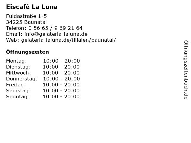 La Luna in Baunatal: Adresse und Öffnungszeiten