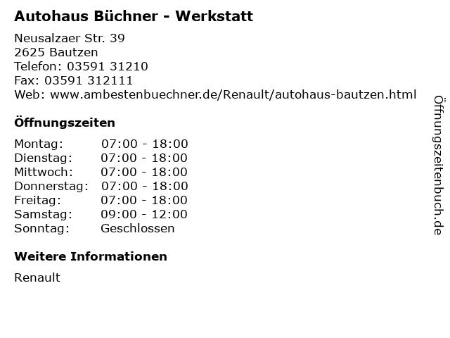 Autohaus Büchner - Werkstatt in Bautzen: Adresse und Öffnungszeiten