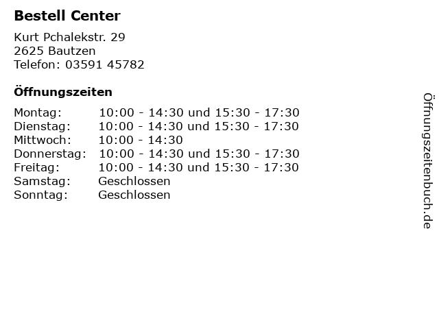 Bestell Center in Bautzen: Adresse und Öffnungszeiten
