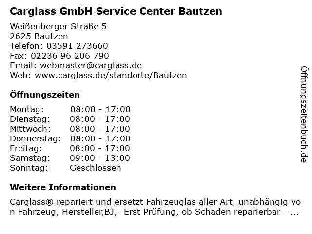 Carglass GmbH Service Center Bautzen in Bautzen: Adresse und Öffnungszeiten