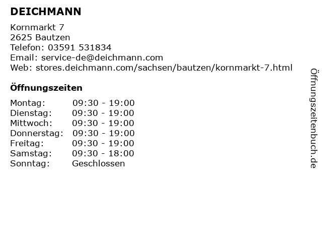 Deichmann Schuhe in Bautzen: Adresse und Öffnungszeiten