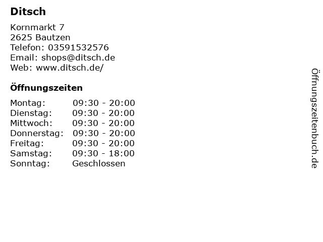 Ditsch in Bautzen: Adresse und Öffnungszeiten
