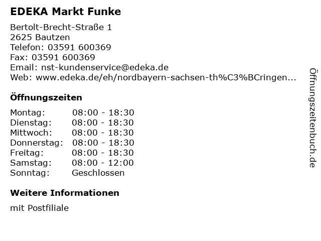 EDEKA Markt Funke in Bautzen: Adresse und Öffnungszeiten
