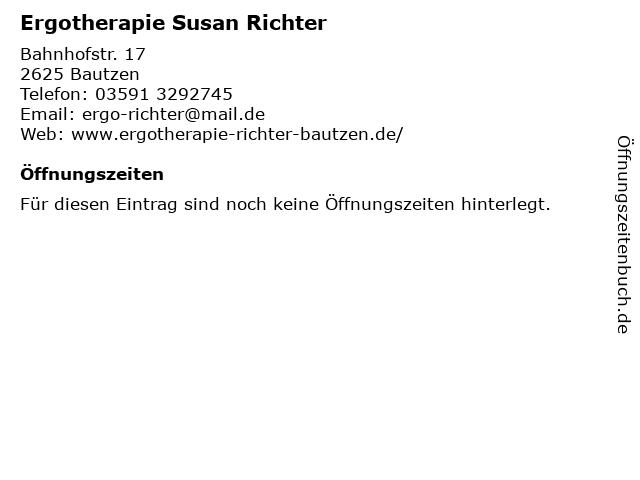 Ergotherapie Susan Richter in Bautzen: Adresse und Öffnungszeiten