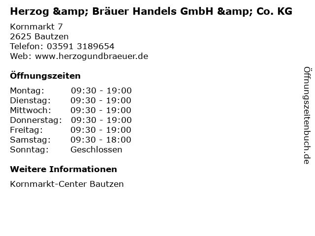 Herzog & Bräuer Handels GmbH & Co. KG in Bautzen: Adresse und Öffnungszeiten