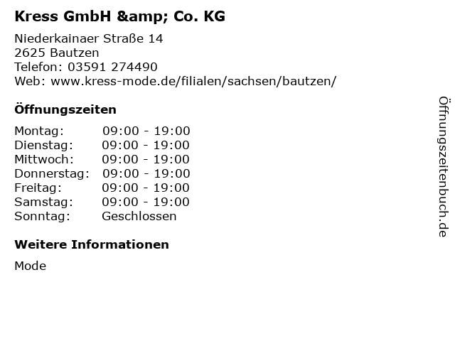 Kress GmbH & Co. KG in Bautzen: Adresse und Öffnungszeiten