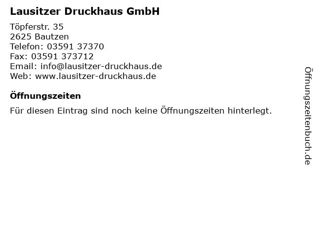 Lausitzer Druckhaus GmbH in Bautzen: Adresse und Öffnungszeiten