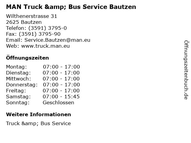 MAN Truck & Bus Service Bautzen in Bautzen: Adresse und Öffnungszeiten