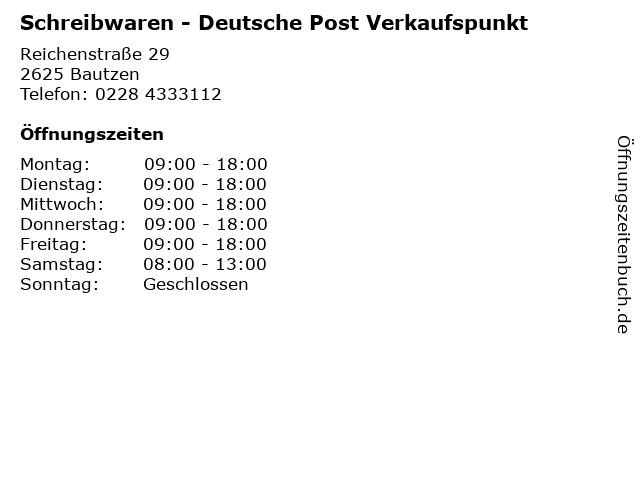 Schreibwaren - Deutsche Post Verkaufspunkt in Bautzen: Adresse und Öffnungszeiten