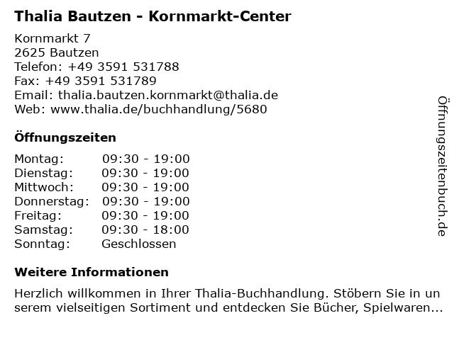 Thalia Bautzen - Kornmarkt-Center in Bautzen: Adresse und Öffnungszeiten