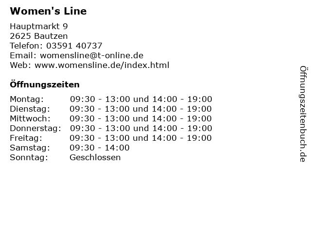 Women's Line in Bautzen: Adresse und Öffnungszeiten