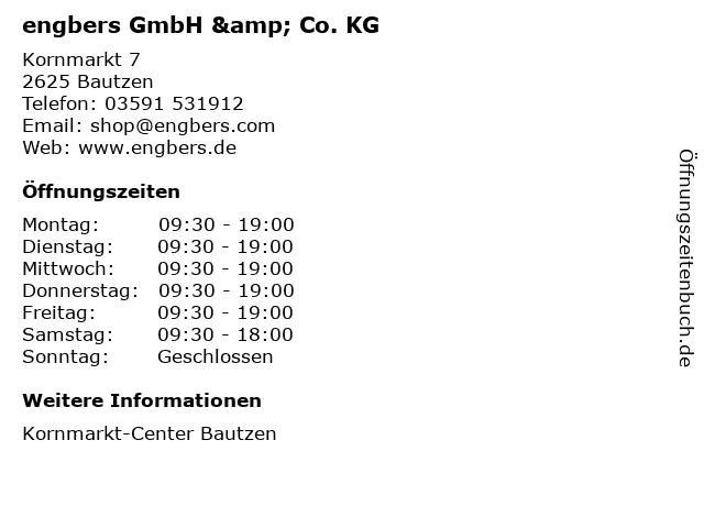 engbers GmbH & Co. KG in Bautzen: Adresse und Öffnungszeiten