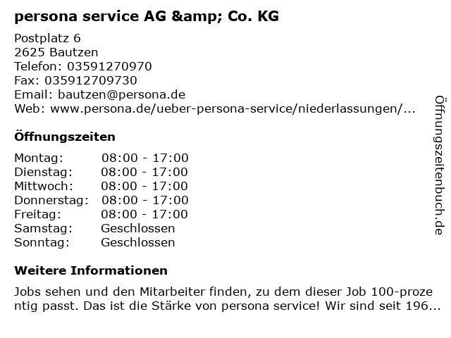 persona service AG & Co. KG in Bautzen: Adresse und Öffnungszeiten