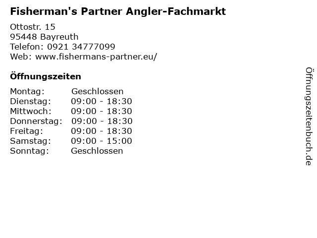 Fisherman's Partner Angler-Fachmarkt in Bayreuth: Adresse und Öffnungszeiten