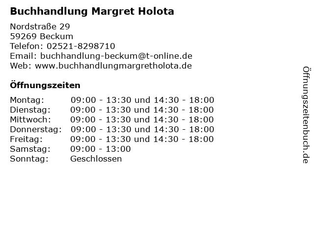 Buchhandlung Margret Holota in Beckum: Adresse und Öffnungszeiten