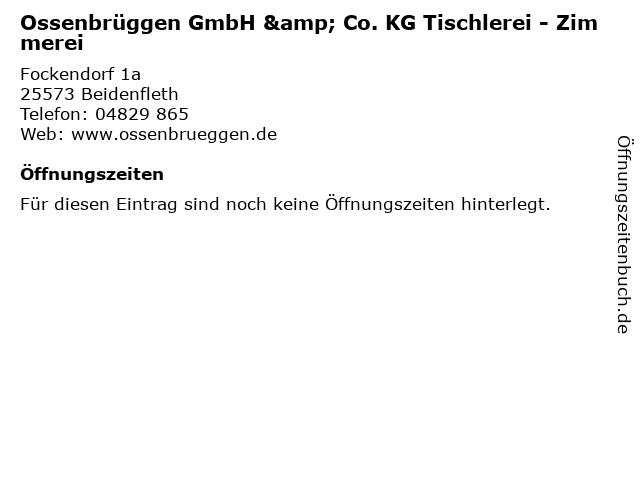 Ossenbrüggen GmbH & Co.KG, Rolf Ossenbrüggen in Beidenfleth: Adresse und Öffnungszeiten