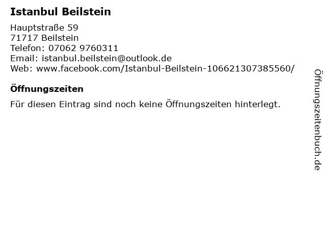 Istanbul Beilstein in Beilstein: Adresse und Öffnungszeiten