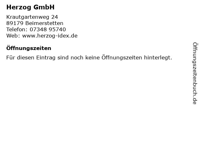 Herzog GmbH in Beimerstetten: Adresse und Öffnungszeiten