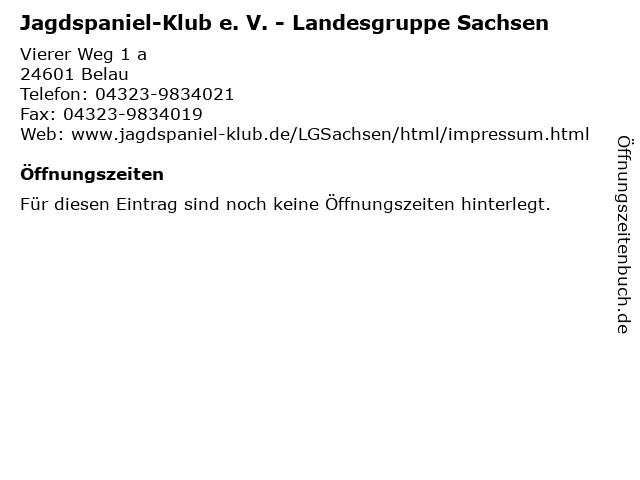 Jagdspaniel-Klub e. V. - Landesgruppe Sachsen in Belau: Adresse und Öffnungszeiten