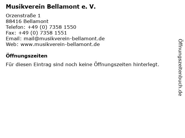 Musikverein Bellamont e. V. in Bellamont: Adresse und Öffnungszeiten