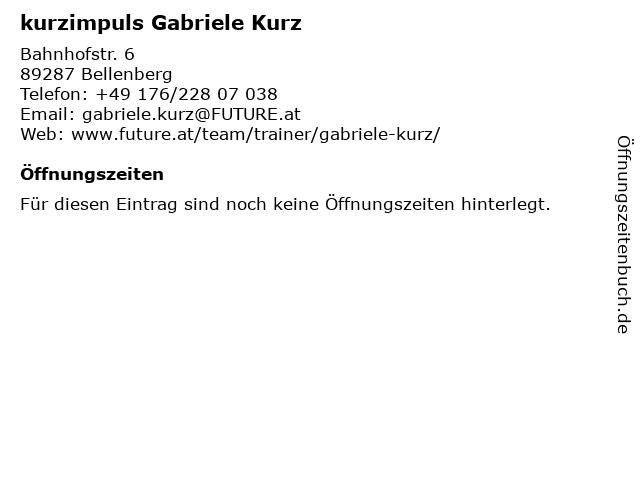 kurzimpuls Gabriele Kurz in Bellenberg: Adresse und Öffnungszeiten