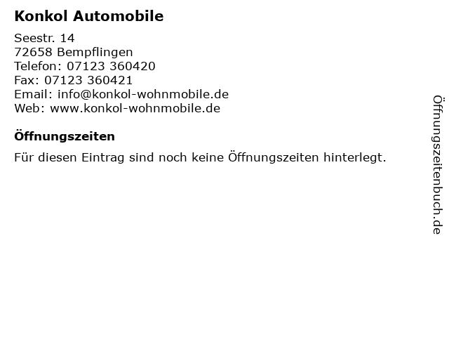 Konkol Automobile in Bempflingen: Adresse und Öffnungszeiten