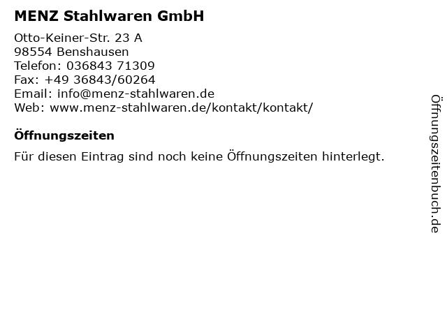 MENZ Stahlwaren GmbH in Benshausen: Adresse und Öffnungszeiten