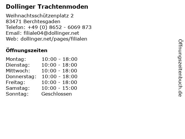 Fritz Dollinger GmbH & Co. KG Trachtenmoden in Berchtesgaden: Adresse und Öffnungszeiten