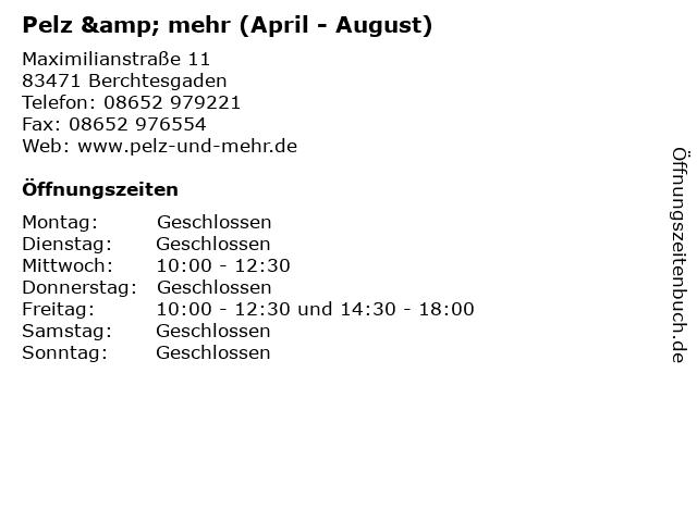 Pelz & mehr (April - August) in Berchtesgaden: Adresse und Öffnungszeiten