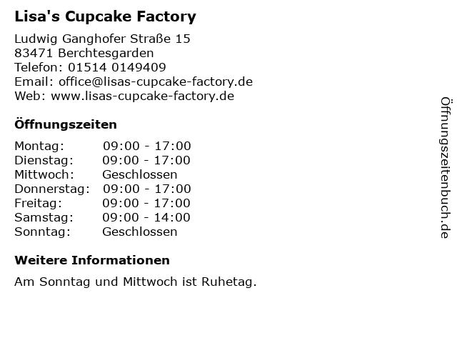 Lisa's Cupcake Factory in Berchtesgarden: Adresse und Öffnungszeiten