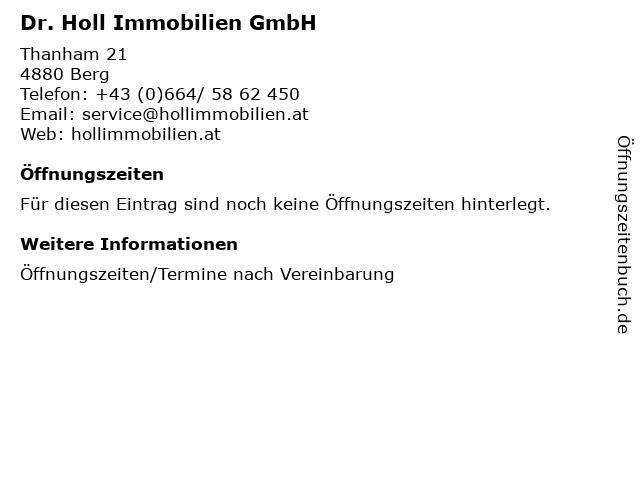 Dr. Holl Immobilien GmbH in Berg: Adresse und Öffnungszeiten