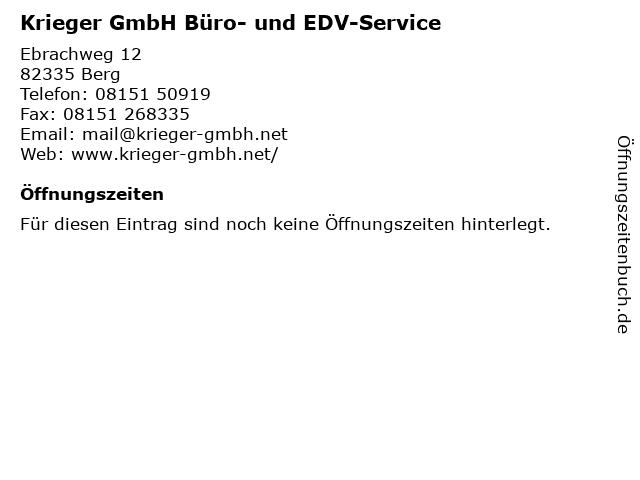 Krieger GmbH Büro- und EDV-Service in Berg: Adresse und Öffnungszeiten
