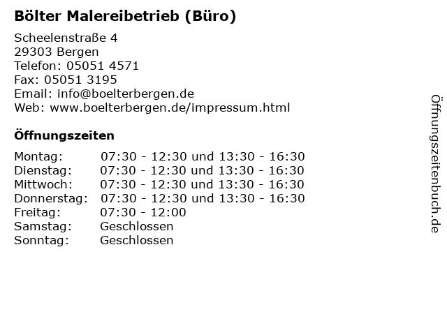 Bölter Malereibetrieb (Büro) in Bergen: Adresse und Öffnungszeiten