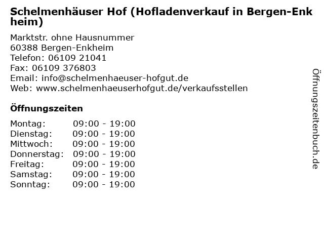 Schelmenhäuser Hof (Hofladenverkauf in Bergen-Enkheim) in Bergen-Enkheim: Adresse und Öffnungszeiten