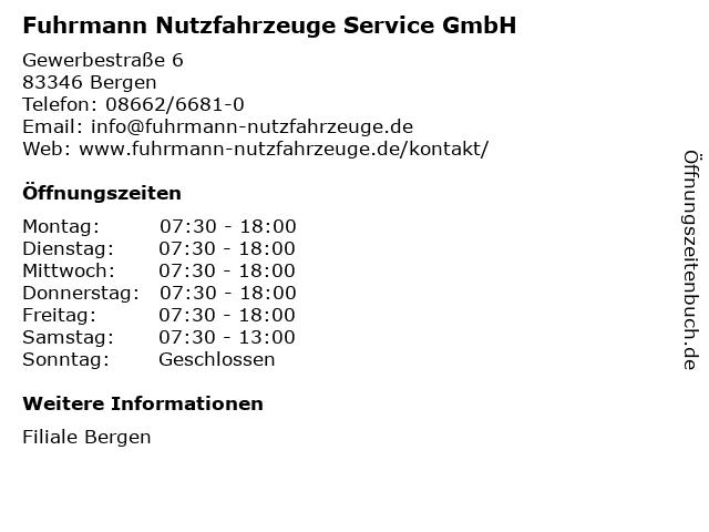 Fuhrmann Nutzfahrzeuge Service GmbH in Bergen: Adresse und Öffnungszeiten